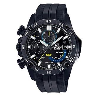 Casio EDIFICE Reloj en caja sólida de acero inoxidable, 10 BAR, Negro, para Hombre, con Correa de Resina, EFR-558BP-1AVUEF