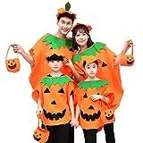 Westeng Capa de Halloween Diseño de Calabaza Capa con Capucha Fiesta Disfraces para Mujeres Hombres-M Size 150-180cm (Adulte)