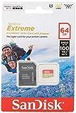 SanDisk Extreme - Tarjeta de memoria 64GB microSDXC para móvil, tablets y cámaras MIL + adaptador SD + Rescue Pro Deluxe, velocidad de lectura hasta 100 MB/s, velocidad de escritura hasta 60 MB/s