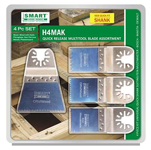SMART 4-teilig Bi-Metall, langlebiges Multitool Messerset, H4MAK