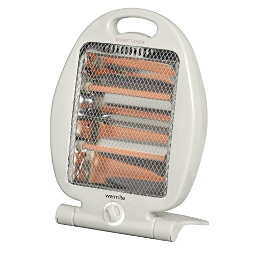 51ZJ8THCRAL. SS500  - Warmlite Folding Quartz Heater, 2 Heat Settings, Carry Handle, 400-800 W, White