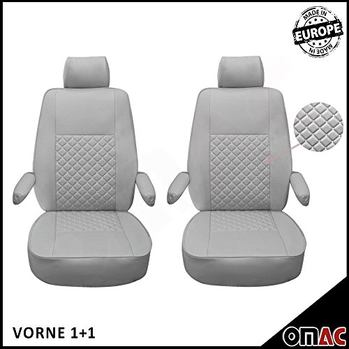 VW Transporter T5T6Multivan Caravelle California in Eco Pelle Finta Coprisedili grigio grigio 1+ 1