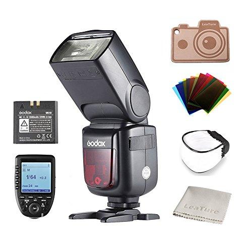 Godox V860IIS Ving 2,4GHz GN60 TTL HSS 1/8000s Li-on Battery Kamera Blitz Speedlite für Sony DSLR Kamera (1.5S Recycle Time 650 Full Power Pops, Supports TTL/M/Multi/S1/S2) Schwarz
