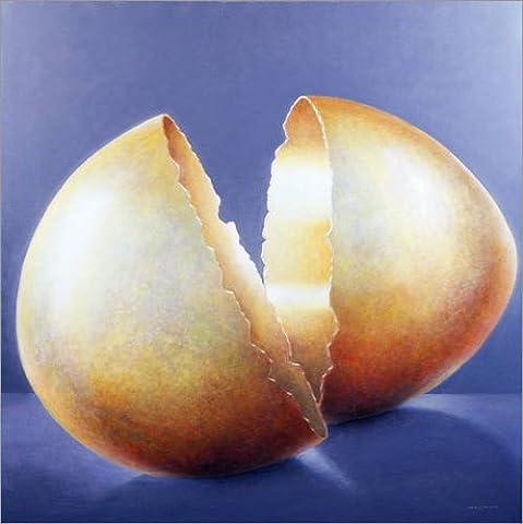 Impression sur bois 50 x 50 cm: Cracked Bronze Age Egg de Lincoln Seligman / Bridgeman Images