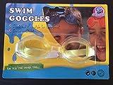 Kinder Schwimmbrille Taucherbrille schwimmen tauchen Brille 15 cm gelb*NEU*OVP*