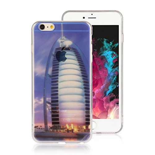 "MOONCASE iPhone 6 Plus Coque, Ultra Mince Motif Etui Souple TPU Silicone Antichoc Housse Case pour iPhone 6 Plus / iPhone 6s Plus (5.5"") (Londres Tower Bridge) Arab Tower Hotel"