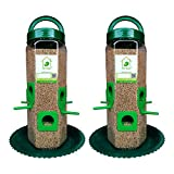 #6: PetNest Six Port Bird Feeder for All Bird Transparent - 2 Piece