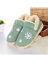 LOMYEN Autunno E Inverno Caldo Pantofole Di Cotone Paio Fondo Morbido Antiscivolo Scarpe Da Casa Regalo Di Natale,36/37