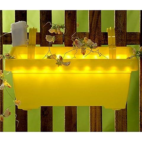 Blumenkasten Pflanzkasten Balkonkasten Pflanzschale LED Beleuchtung Blumentopf,