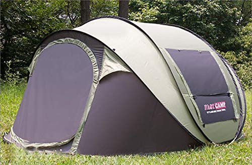 BBX Automatische Pop-Up-Gruppe Camping Zelt mit Sonnendach 4-5 Personen Windproof Snow Shelter 5000 mm Wassersäule Wasserdicht Wandern Backpacking Trekking (4 Personen Gruppen)
