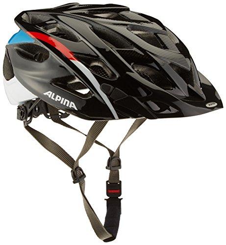 ALPINA D-Alto Fahrradhelm, Black-Red-Blue, 57-61 cm
