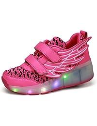 Angel Serie Zapatillas Zapatos del patín zapatos deportivos niños y niñas de calzado deportivo, zapatos de skate peón neutra con luces LED parpadeante ruedas de patines de rueda patín zapatos