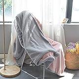 KELE Abnehmbare Hairball Kuscheldecke, Double Layer Warme Sofa Office Siesta Deckel-Decke Mit verdecktem reißverschluss Multifunktion Bettbezug Wolldecke-A 200x230cm