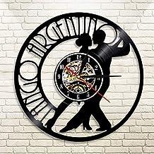 Guokee 1 Pieza Tango Argentina Silueta Volver Colgando Deporte Moderno Disco De Vinilo Reloj De Pared