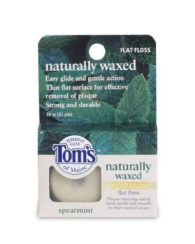 toms-of-maine-naturally-waxeed-antiplaque-flat-floss-spearmint-30-m-32-yds-by-toms-of-maine