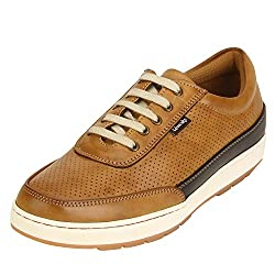 Quarks Mens Tan Synthetic Smart Casual Shoes J1113TN-9
