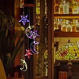 Campane Tubolari LED Solar cambia colore Pathonor Campane a vento Luce del giardino LED luna stella scolorire per giardino/home/party decorazioni led decorazioni del giardino