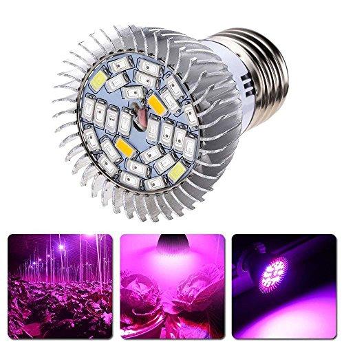 Mitlfuny Pflanzenlampe 28W E27 LED Pflanzenlampen für Zimmerpflanzen, Blumen und Gemüse,Wachsen Licht Lampen Lampe Vollspektrum (White)