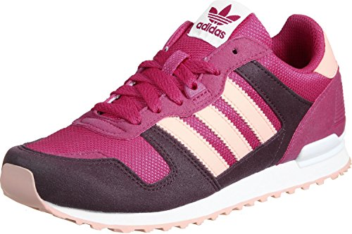 adidas ZX 700 K W Chaussures rose violet blanc