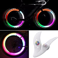 MTSZZF 2 X Luz de Rueda de Bici LED Cambian de Color 3 Modo Ciclismo Bicleta