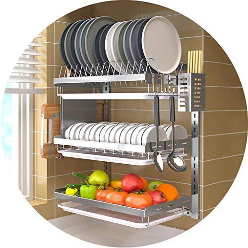 Framy-shelf Edelstahl Abtropfschale Abtropfgestell Wand Küche Veranstalter Trockner Geschirr Regal Küche Hängende Racks - Schneidebrett Veranstalter