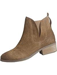 Martin Boots Botines Botas Zapatos JK300310 Moda Botas Cortas Planas Antideslizante Impermeable Moda Mujer,GJDE