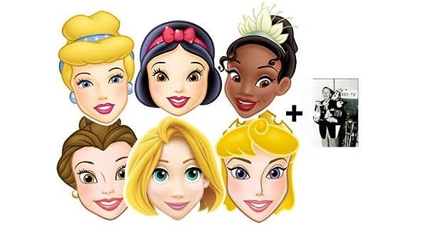 Disney Princess card Karte Partei Gesichtsmasken (Maske) Packung von ...