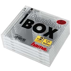 Hama CD-Doppel-Leerhülle Standard, 5er-Pack, transparent