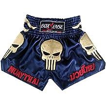 Boxsense Muay Thai Kick Boxeo Tailandes Pantalones BXS-302-Navy size M