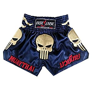 Boxsense Muay Thai Kick Boxeo Tailandes Pantalones BXS-302-Navy