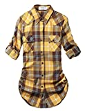 Match Damen Flanell Kariert Shirt #B003(2021 Checks#21,Small(Fit 33''-35''))
