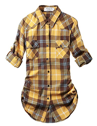 Match Donna Flanella Plaid Camicia #B003 2021 Checks#21