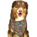 Wfispiy Bunte Beschaffenheits-Fisch-Muster-Ostern-Hundebandana-umkehrbare Dreieck-Schellfische für Hundehaustiere