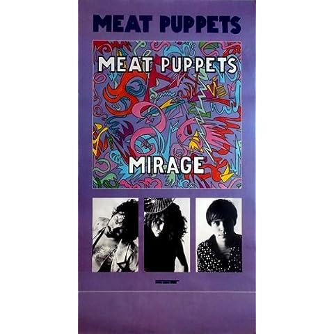 Meat Puppets–1987–Tour Póster–Mirage–Tour Póster–Concert