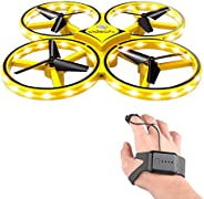 RC Drone for Kids, lesgos 360° Rotating Mini Drone with 32 LED Lights, Quadcopter Interactive Infrared Induct