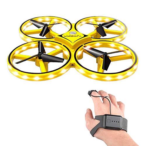 lesgos RC Drone für Kinder, 360 ° drehbare Mini-Drohne mit 32 LED-Leuchten, Quadcopter Interactive Infrared Induction Flying Toys, handgesteuertes Drohnen-Spielzeug für Kindergeschenke