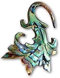 Fly Style® - 1 Stück - Perlmutt Paua Muschel Ohrhänger - Tribal Blume