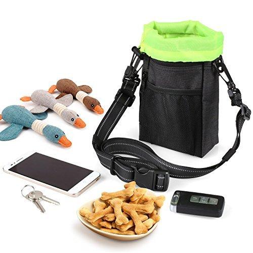 PEDY Hund Futtertasche Futterbeutel für Hundetraining Leckerlibeutel Snackbeutel Leckerlitasche für Hunde tragbar mit Befestigungsclip