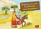 Kamishibai Bildkartenset Jesus wird geboren - Bildkarten für unser Erzähltheater - das Kamishibai - Petra Lefin (Illustriert)