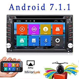 Stereo-Autoradio-Upgrade-Version-mit-Android-60-Qure-Core-WLAN-Doppel-DIN-DVD-Player-GPS-Navigation-und-integrierter-Kamera-fr-alle-Automodelle