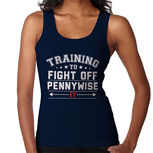 Training To Fight Off Pennywise IT Women's Vest Navy blue
