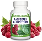 Raspberry Ketone Trim Slimming Tablets by Natural Answers - Pure Appetite Suppressant Formula - High Quality Dietary Supplement - Maximum Strength Natural Fat Burning Supplement Pills- Quick Weight Loss Assistance Fat Burning Supplement - One Month Supply - Antioxidant Diet Pills - Two Daily Servings To Support Healthy Weight Loss & Detox - UK Manufactured Slimming Aid