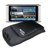 Pochette Noire + Passant de Ceinture et Poche Intèrieure pour Nokia y compris N8, 1616 & 2720 Fold