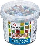 Rayher Hobby 1453049, Set di tessere per mosaico, 1 cm, ca. 1300 pz., 1 kg, colori assortiti
