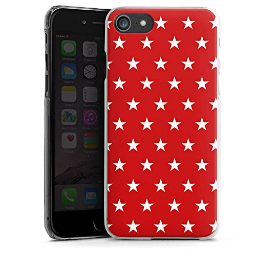Apple iPhone X Silikon Hülle Case Schutzhülle Muster Sternchen Polka Hard Case transparent