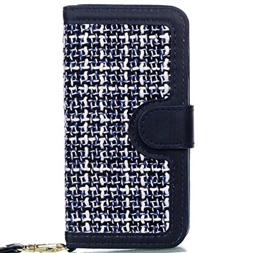 iPhone Case Cover Housse IPhone 6S, motif de tissage PU Housse de protection en cuir Housse de support avec porte-cartes et cadre photo pour Apple IPhone 6S 4.7 ( Color : 3 , Size : IPhone 6S 4.7 ) 2