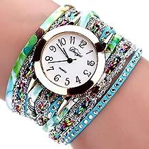 Bestow Reloj de Cuarzo de Las Mujeres de la Pulsera de Lujo del Reloj de Cuarzo