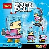 CuteDoll Figura de Bulma Dragonball Dragon Ball Puzzle Juego Bloques de construccion tamaño 9 cm...