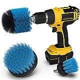 Ecbrt 3pcs Drill Brush Trapano per la Pulizia delle setole di Media durezza per Piastrelle Pavimento Cucina Bagno Mattone