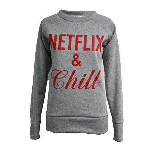 netflix-and-chill-sweatshirt-funny-slogan-sweater-student-jumper-m-l-uk-size-12-14-silver-grey